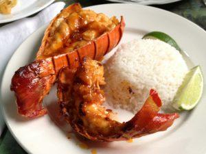010 Matanzas casa lobster tail dinner