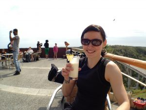 014 Me drinking famous Bacunayagua Lookout pina colada