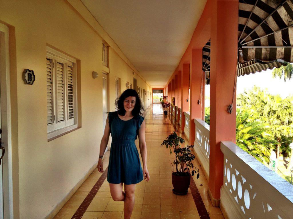 Heather in Hotel El Mirador.
