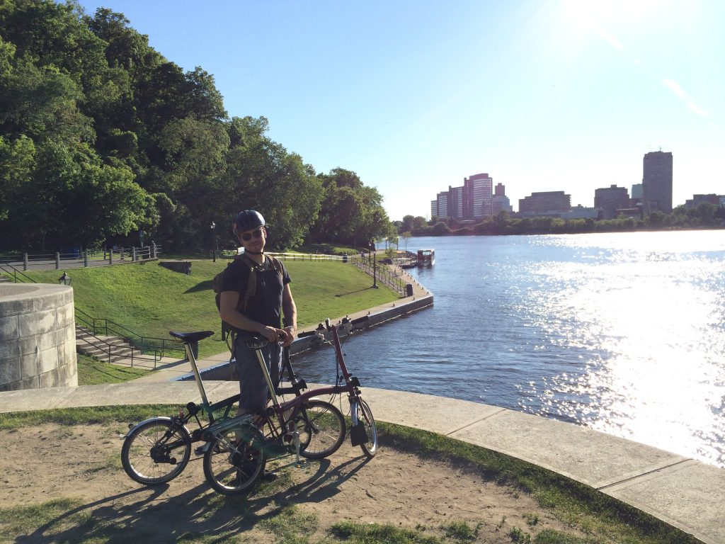 The Ottawa River. No hand railings! You could just ride right into the river if you wanted.