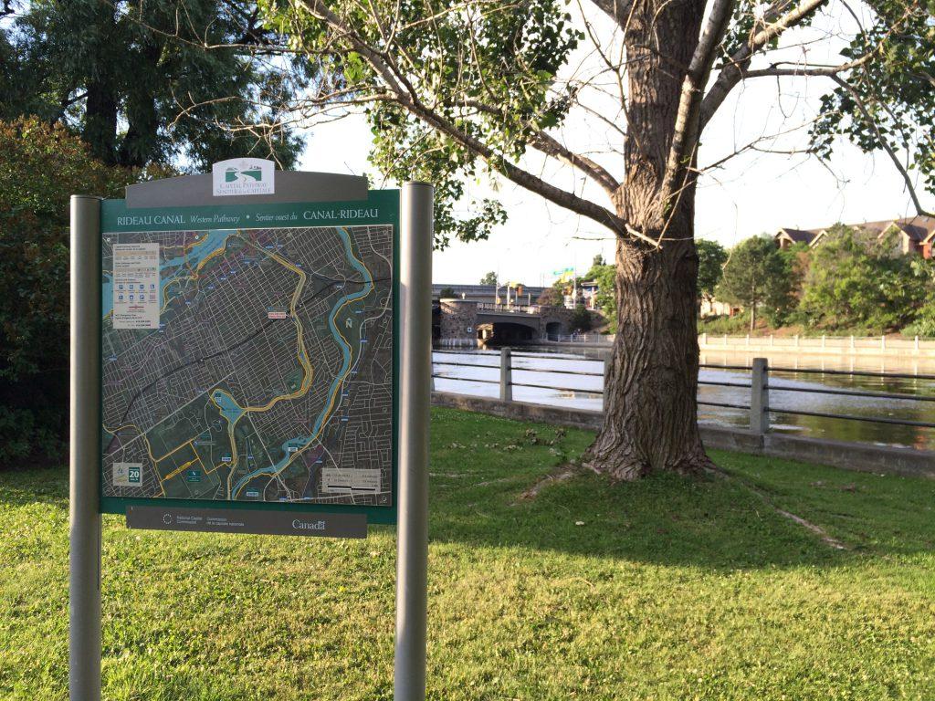 Ottawa - Rideau Canal map+canal