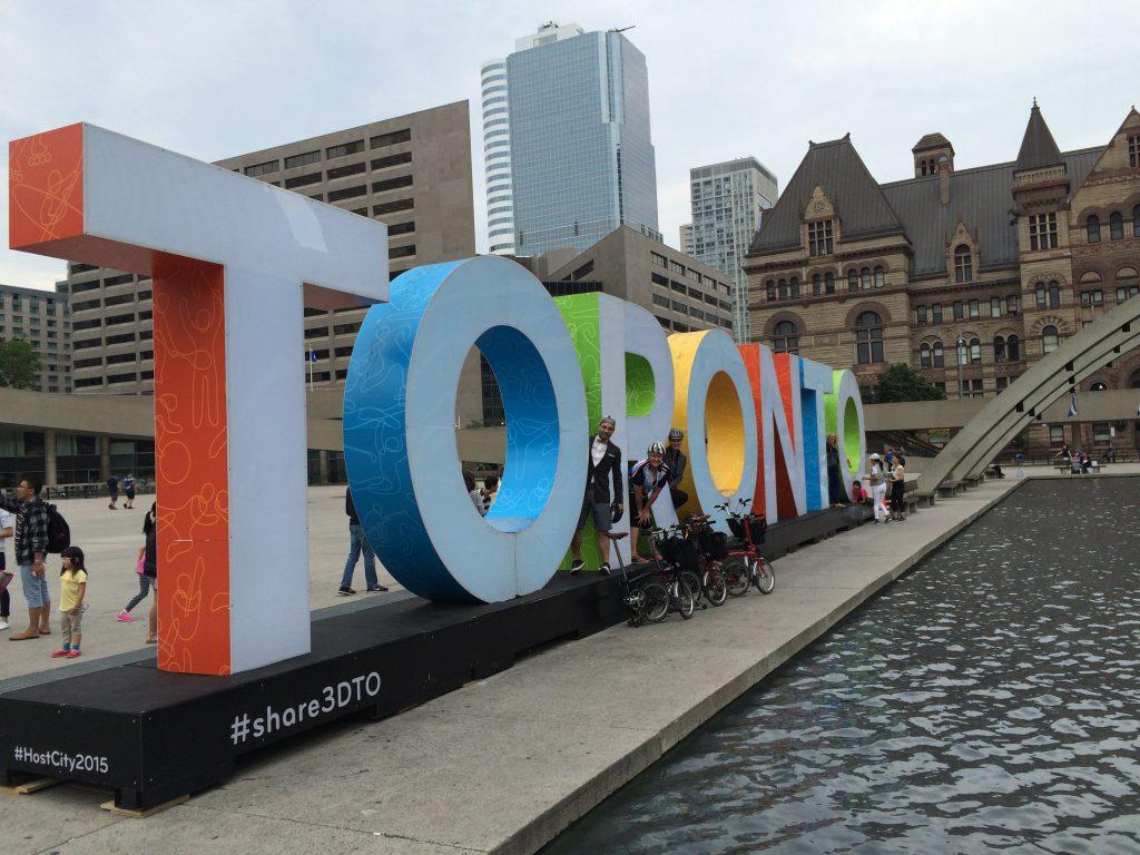 06 Bromptons w Toronto sign
