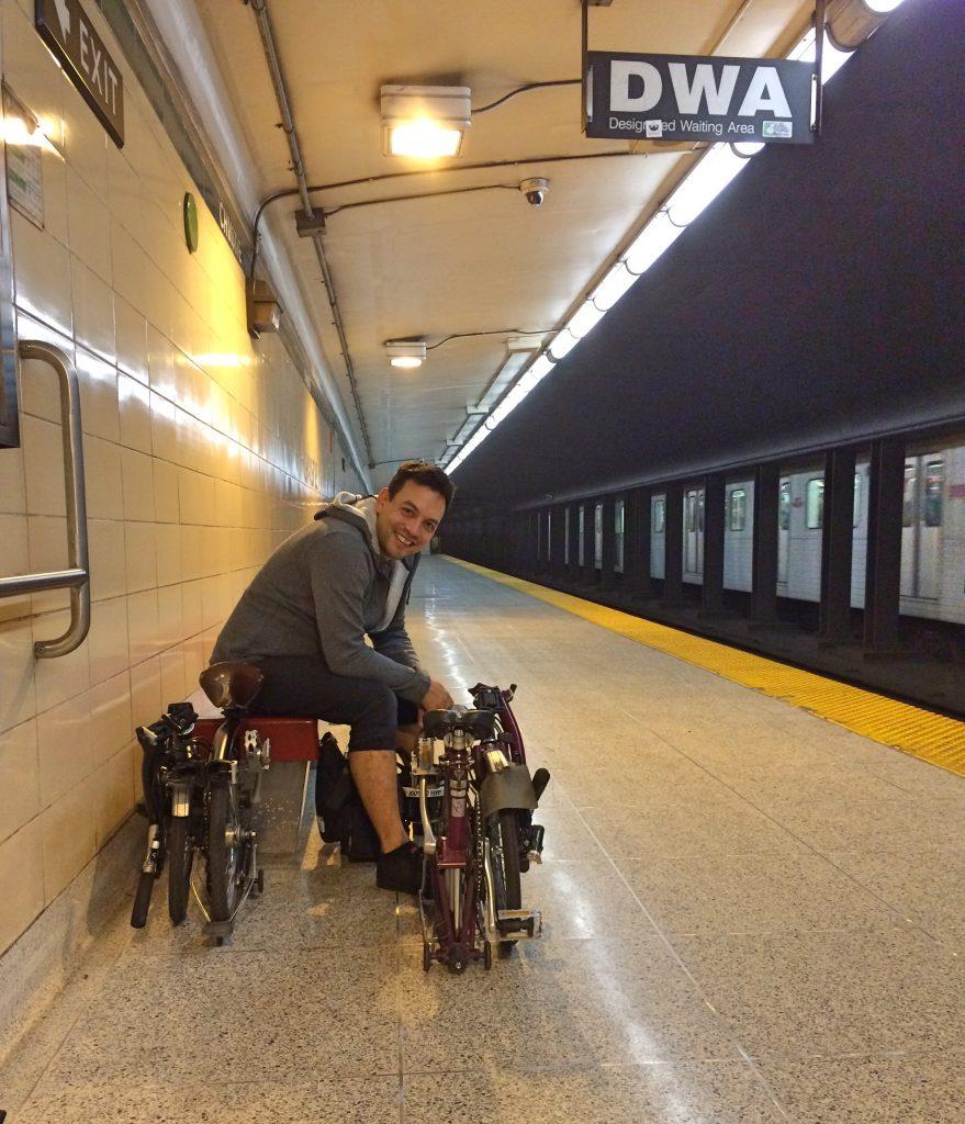 Bromptons on transit, Toronto