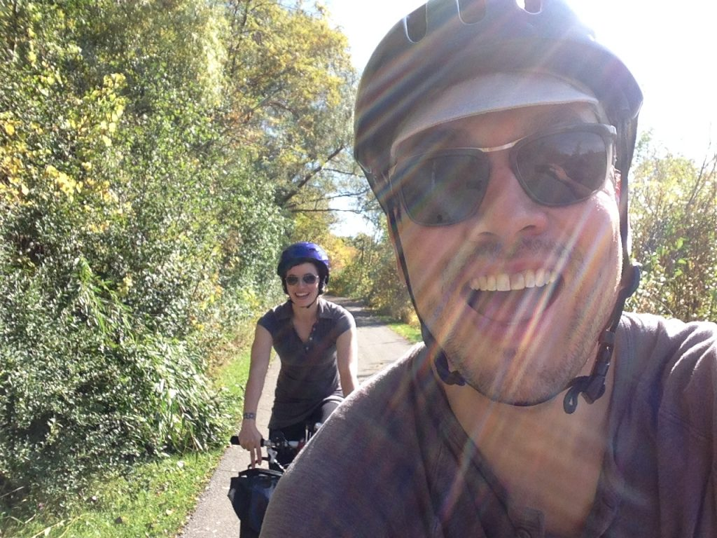Pan Am Path cycling selfie