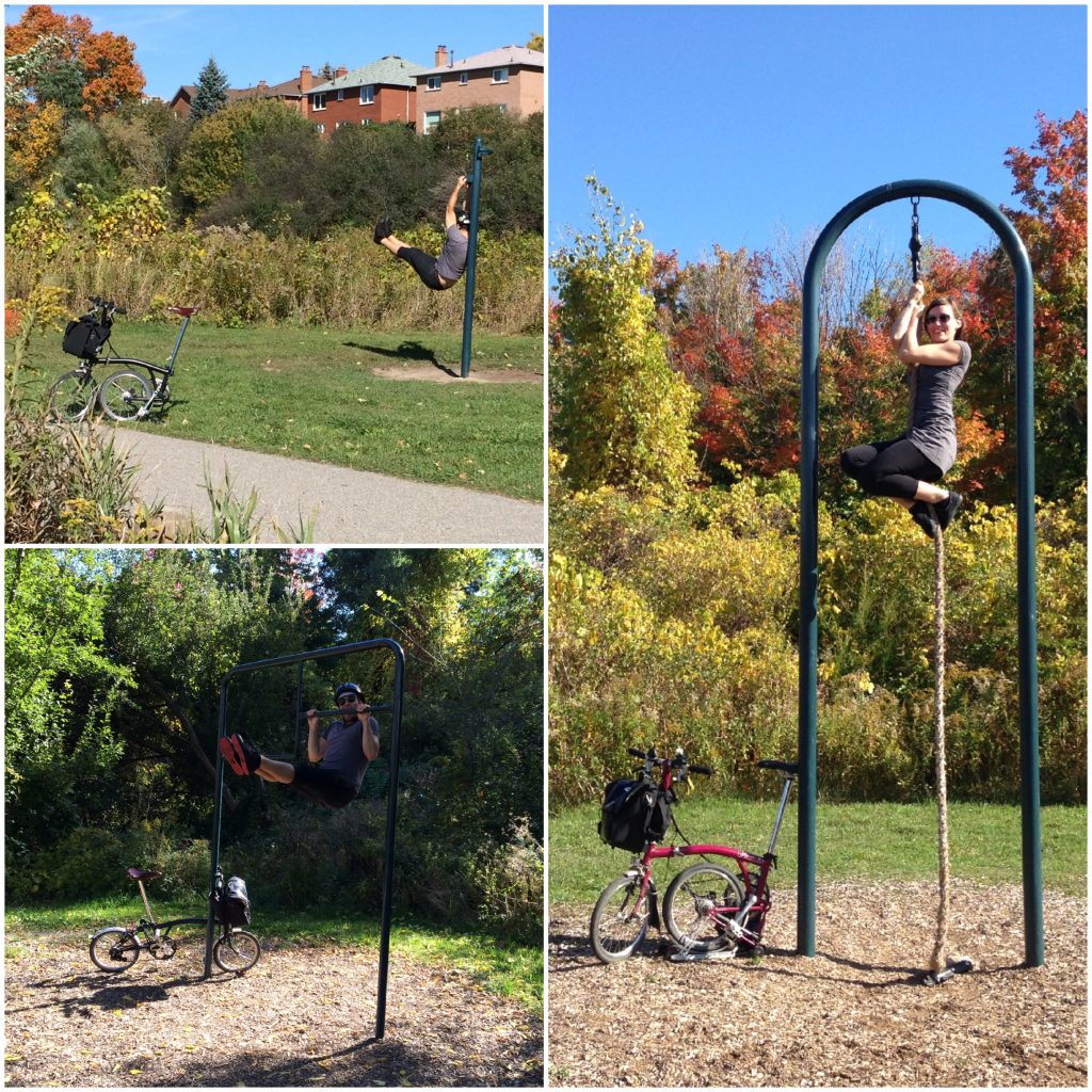 Pan Am Path workout stations