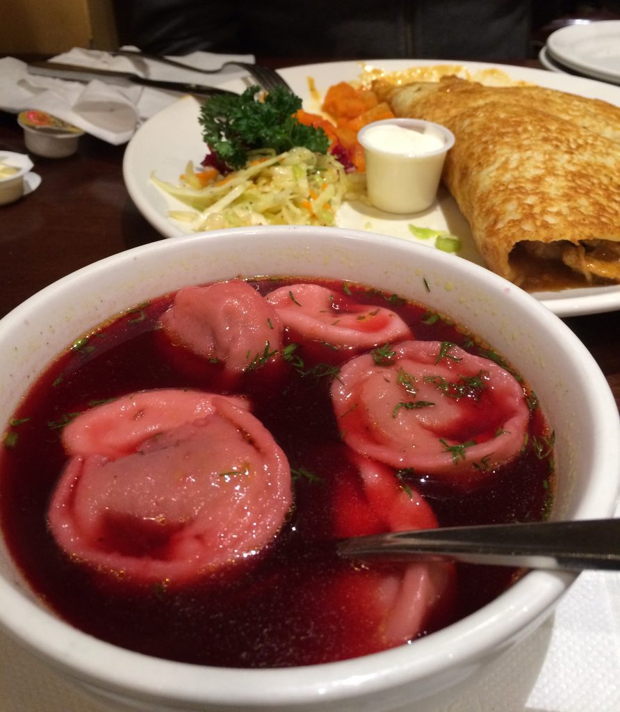 Hungarian food at Cafe Polonez, Toronto