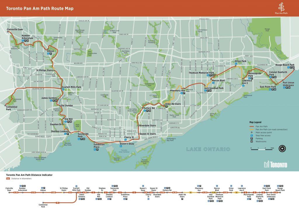 Toronto Pan Am Path MAP