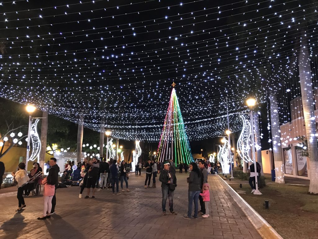 Christmas on Calle 56A in Merida, Mexico.