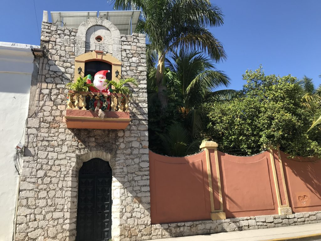 Christmas in Merida, Mexico.