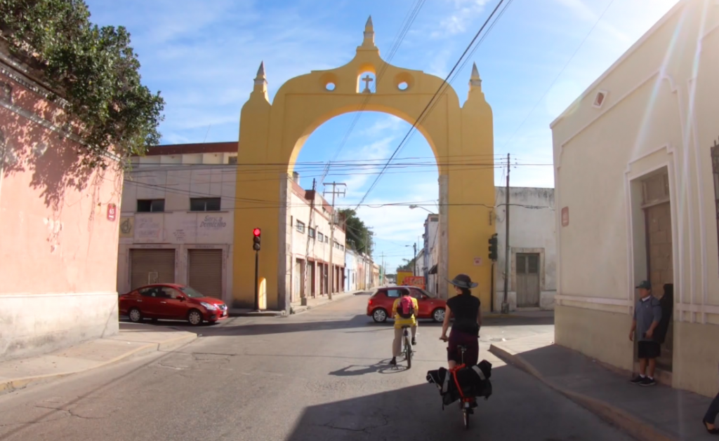 The Arch Bridge heading east out of Merida, Mexico.