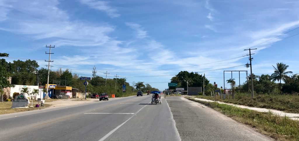 On the state road heading east of Mérida.