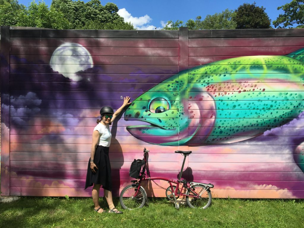 Fishy mural in Marie Curtis Park