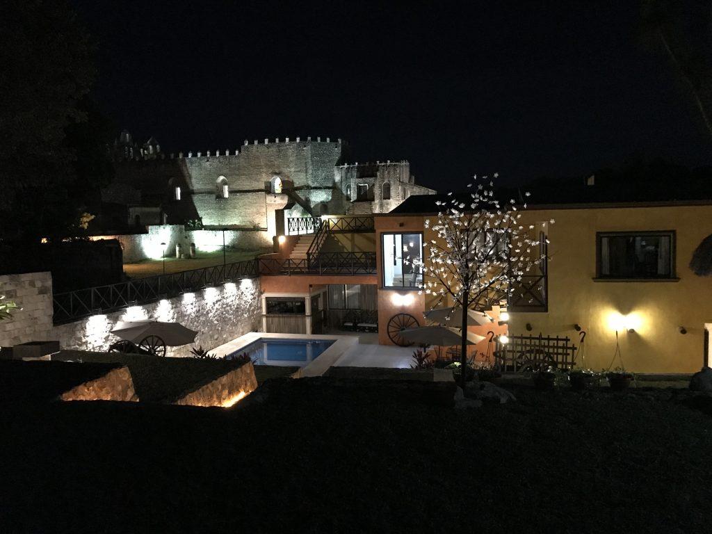 The view of Convento de San Antonio from our hotel in Izamal, Merida.