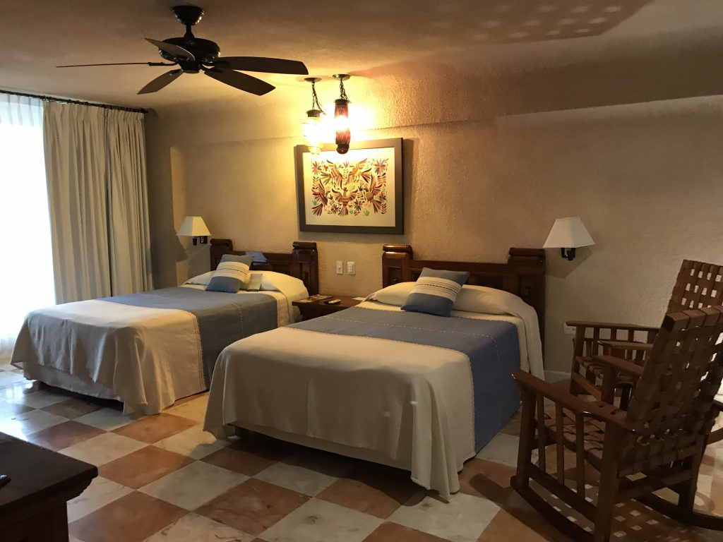 Hotel Mayaland room, Chichen Itza, Mexico.