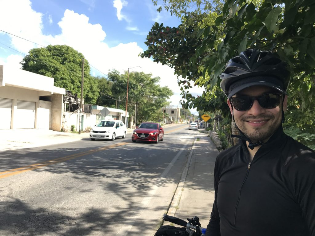The first town we cycled through was Kaua, Yucatan, Mexico.