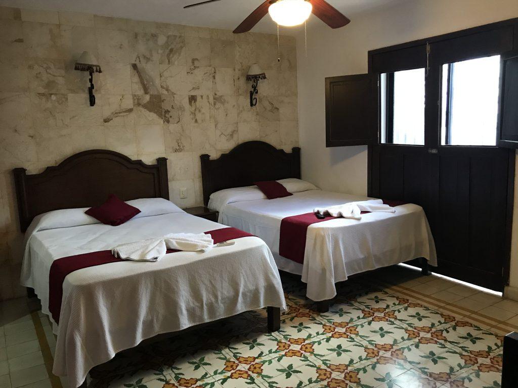 La Aurora hotel room, Valladolid, Mexico.