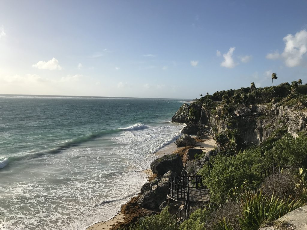 Ocean view from Tulum ruins.