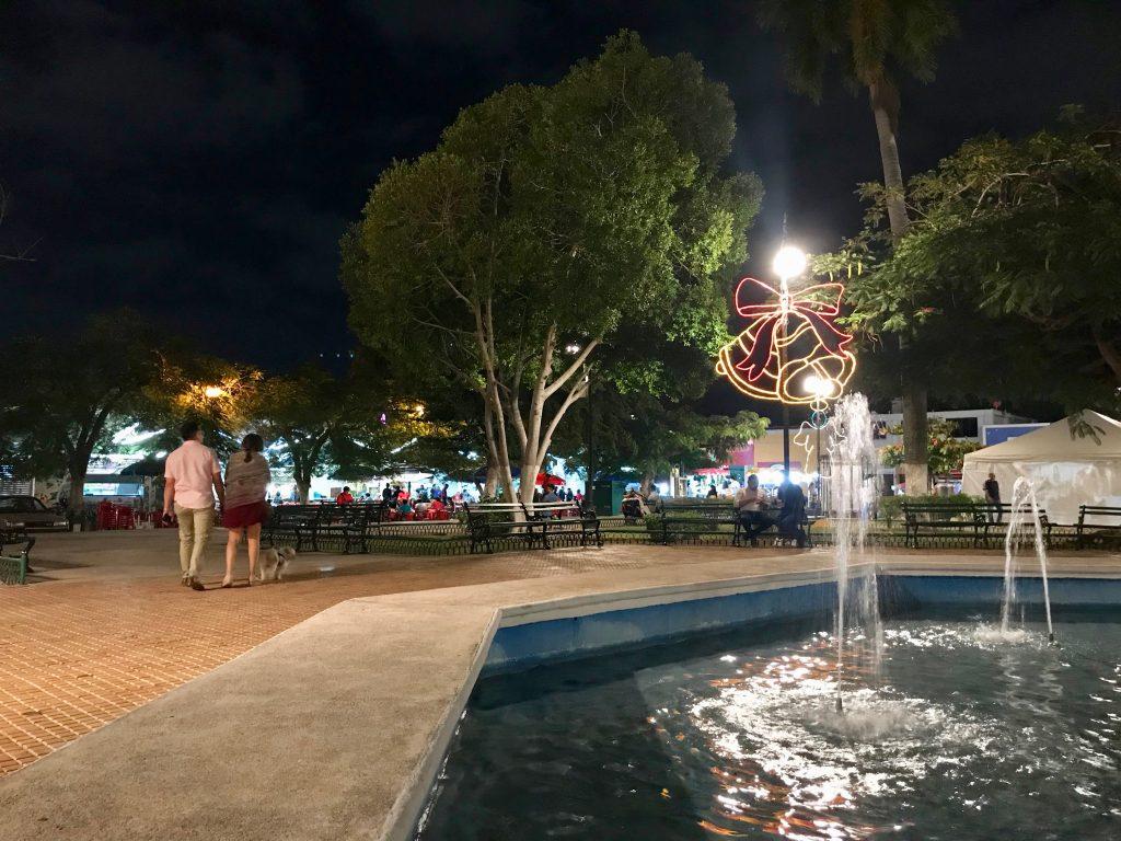 Parque de Santa Ana, Merida, Mexico.