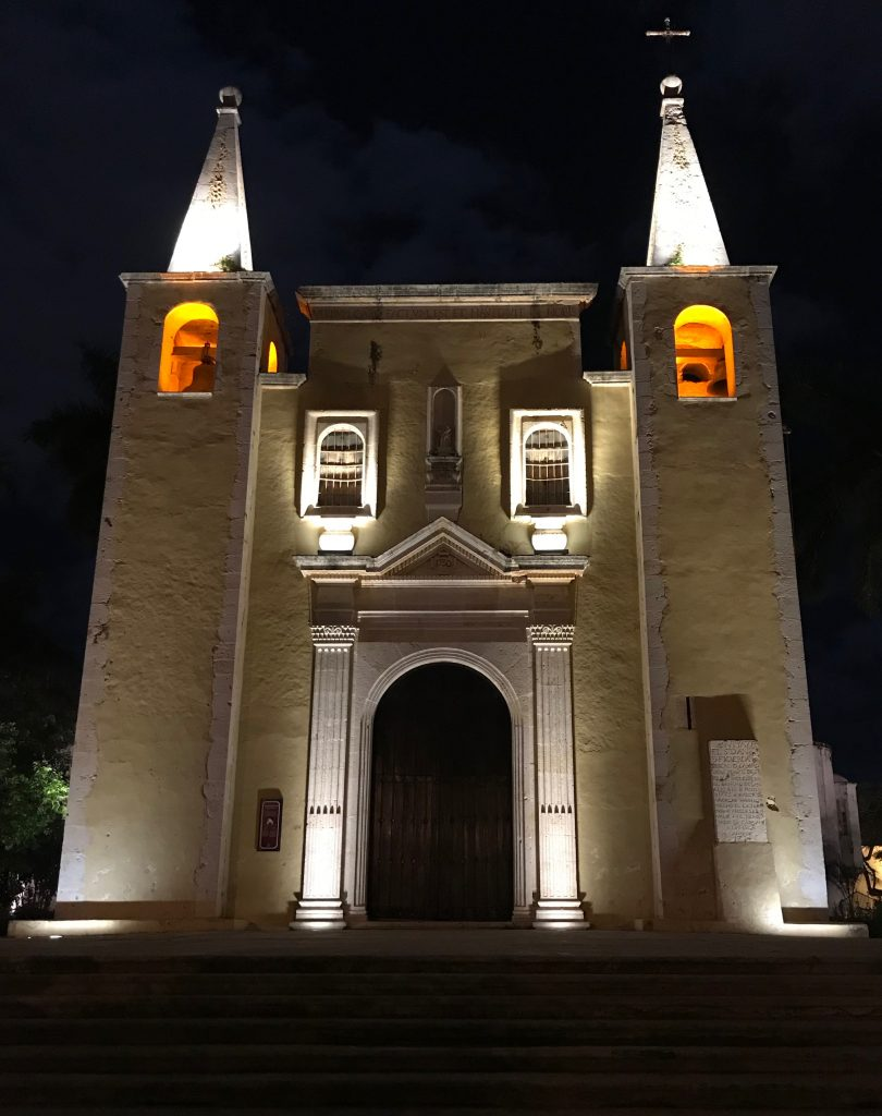 Simple but beautiful Santa Ana church. Merida, Mexico.
