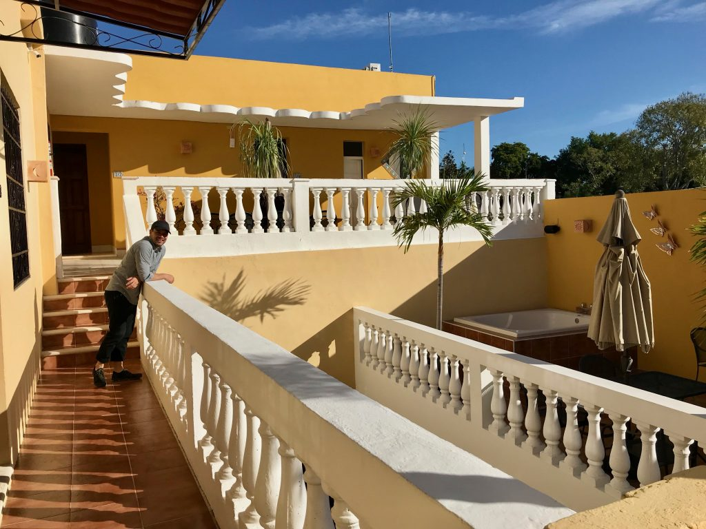 Hotel del Peregrino terrace. Merida, Mexico.