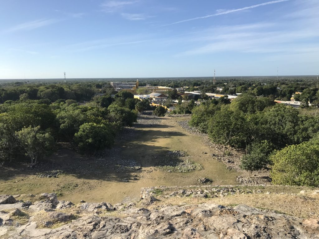 View of Izamal from the top of Kinich Kakmó.