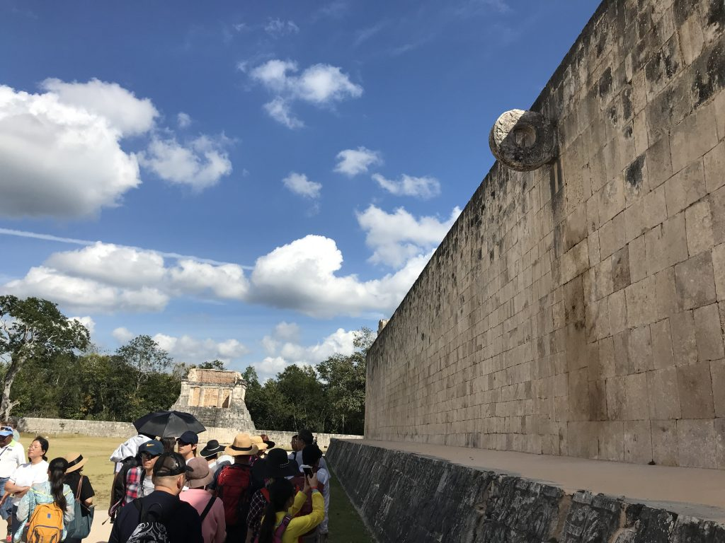 Maya ball court, Chichen Itza, Mexico