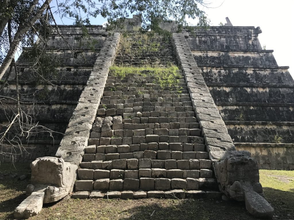 Lots of serpent stairs in Chichen Itza. This is El Osario.