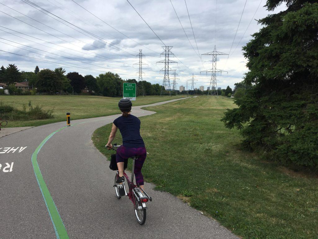 Finch Hydro Corridor East. Toronto, Canada.