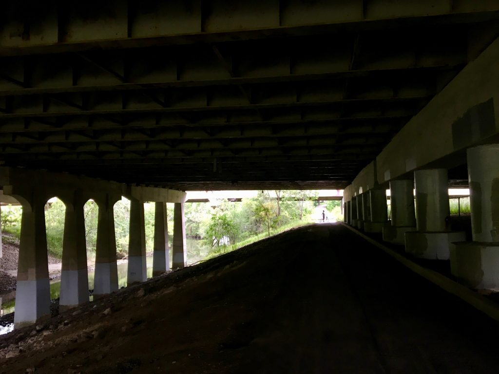 401 underpass on Betty Sutherland Trail, Toronto, Canada.