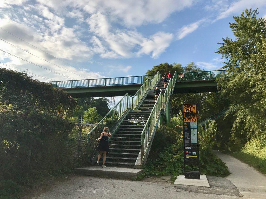 Steps to Riverdale Park. Toronto, Ontario, Canada.