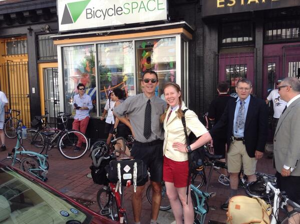 Bromptoneers gather at Bicycle Space, Washington, DC