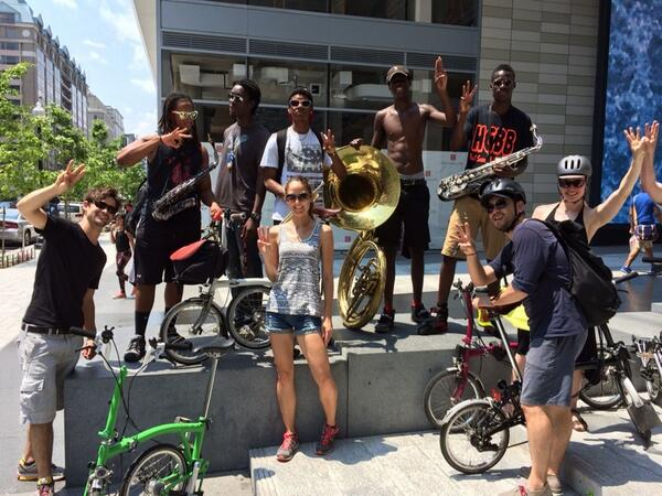 Challenge: Bromptons in the Hot Gumbo Brass Band