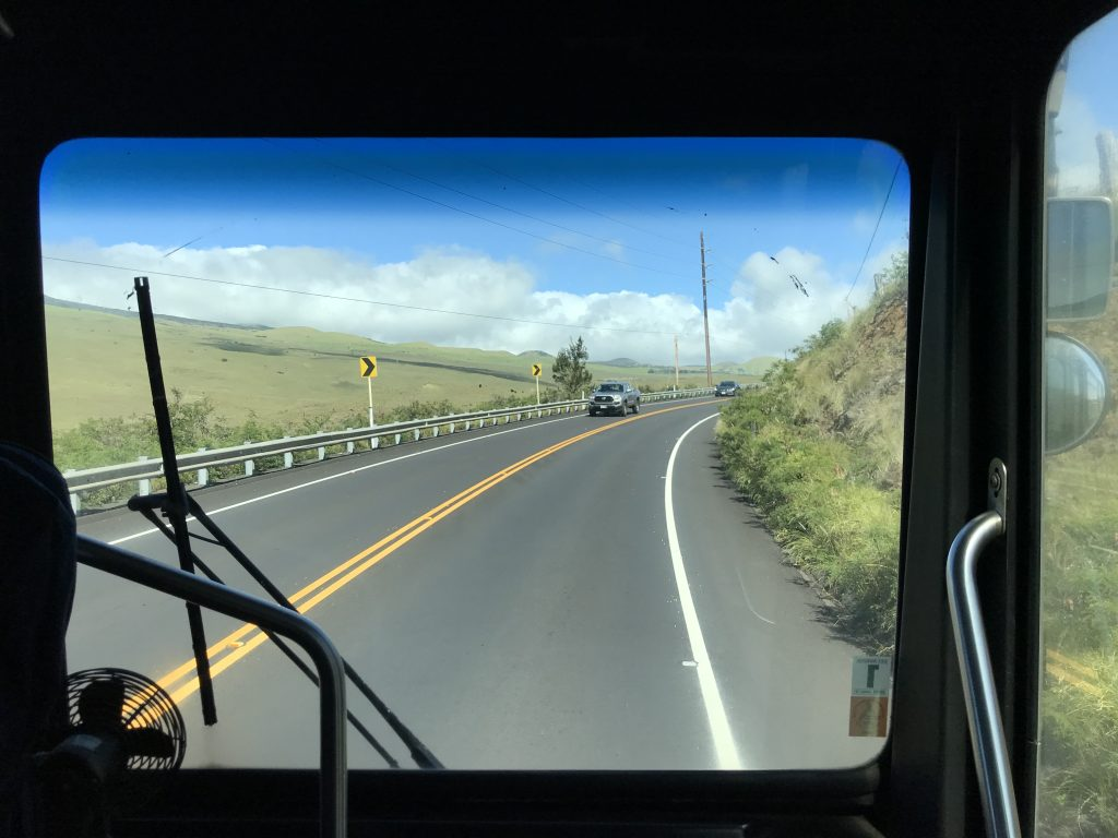 View from the Hele-On bus near Waimea.