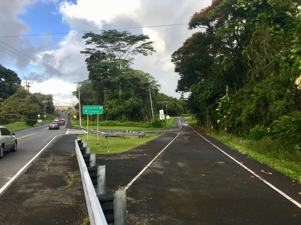 Hilo, Hawaii - Turn off from Waianuenue Ave onto Rainbow Drive.