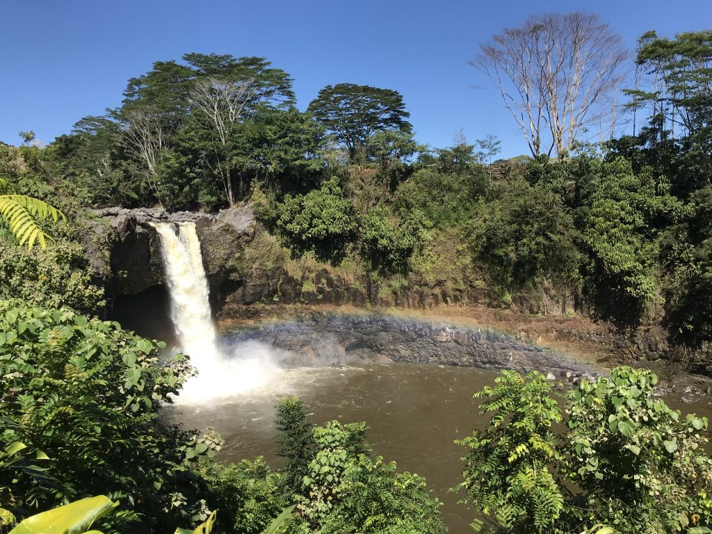 Rainbow Falls, Hilo, Hawaii.