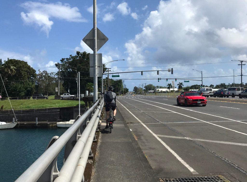 Bridge over Wailoa River. Hilo, Hawaii.