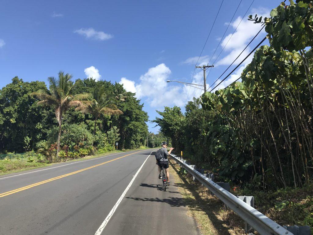 Kalanianaole Street outside of Hilo, Hawaii.