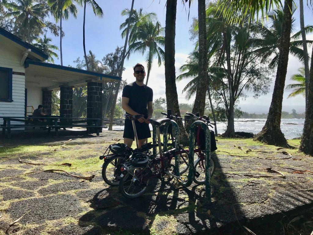 Bike racks at Richardson's Ocean Center.