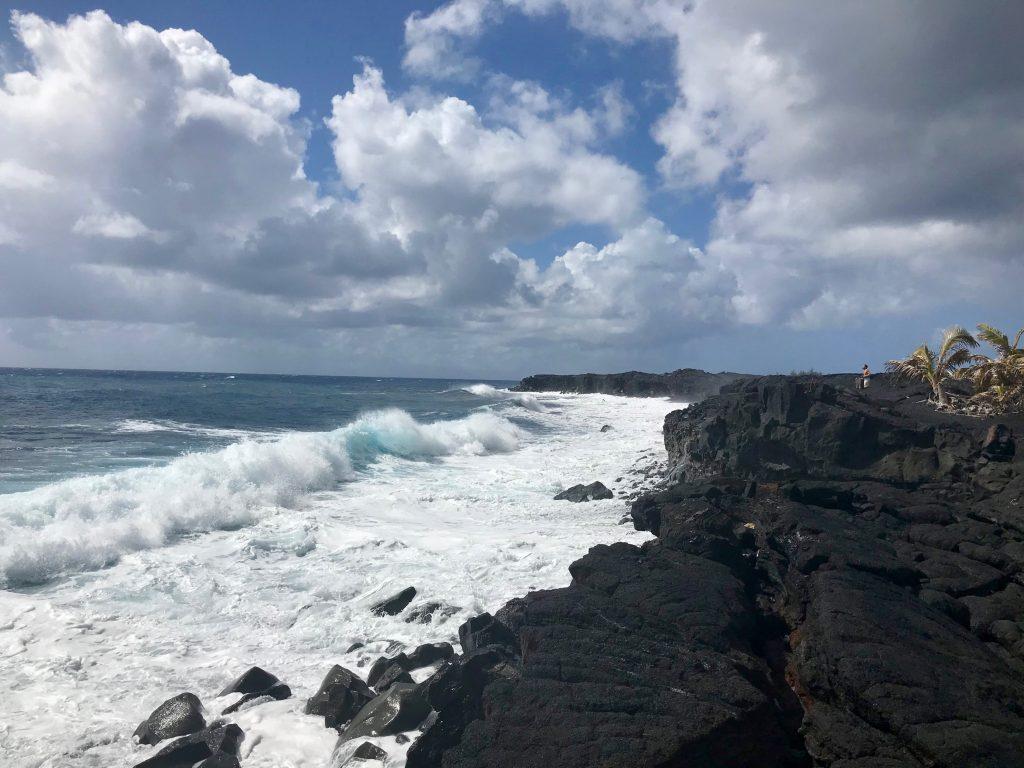 New Kaimu Black Sand Beach, The Big Island, Hawaii