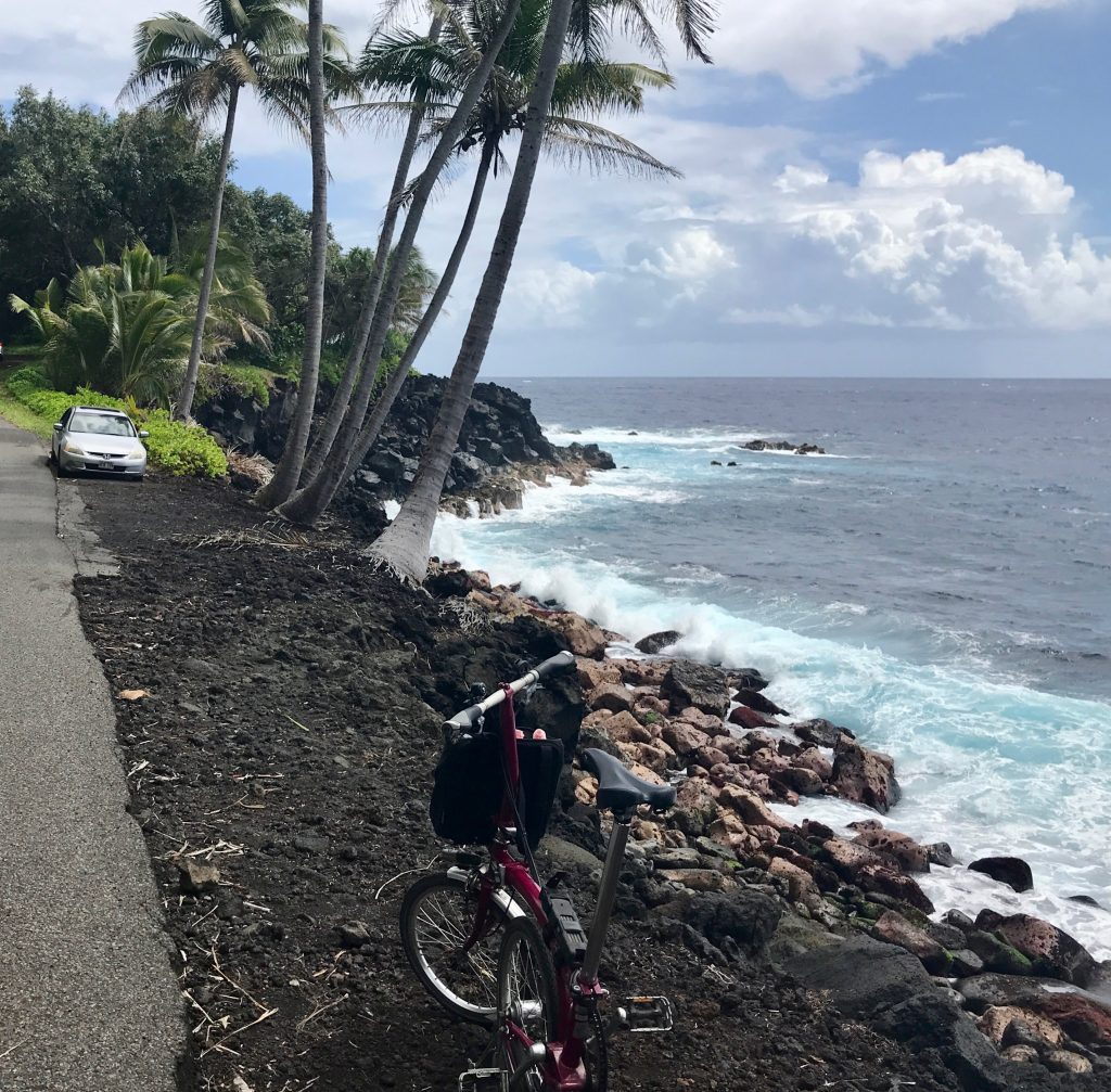 Section of old Red Road gets really close to the shore. Puna, Hawaii