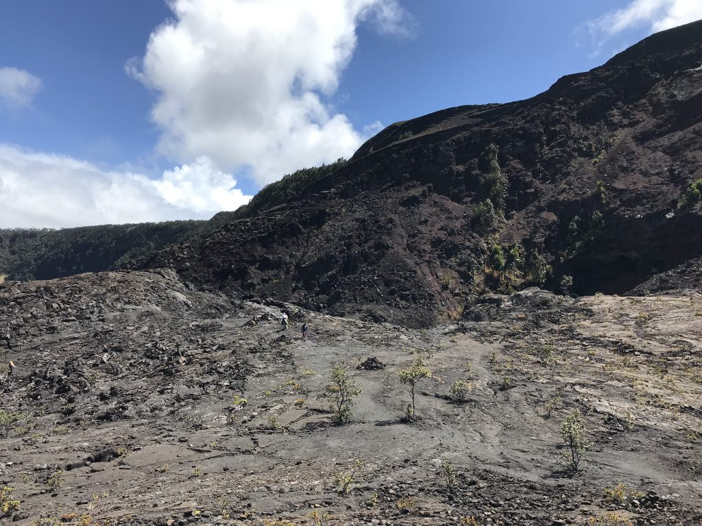 Trail becomes less obvious. Look for the Ahu! Volcanoes National Park, The Big Island, Hawaii