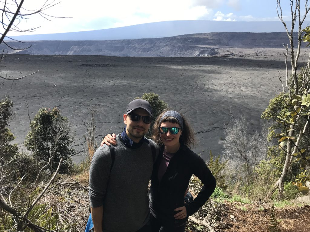 Lookout over Kilauea Caldera from the Byron Ledge Trail.