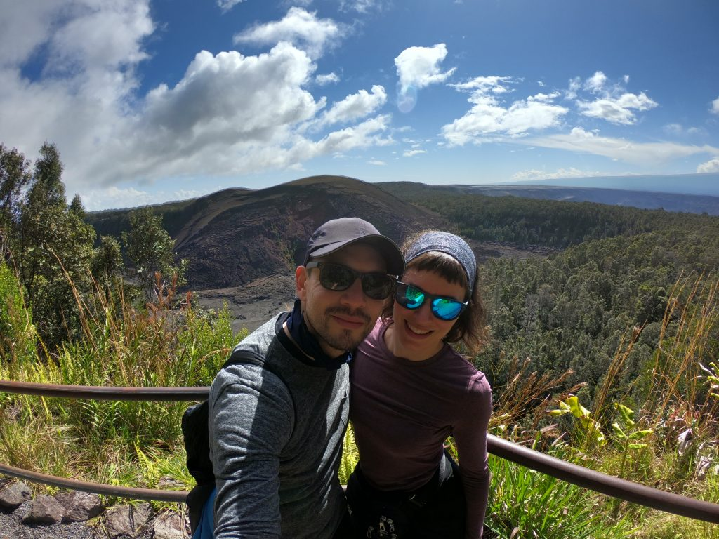 Kilauea Iki Crater, Volcanoes National Park, The Big Island, Hawaii.