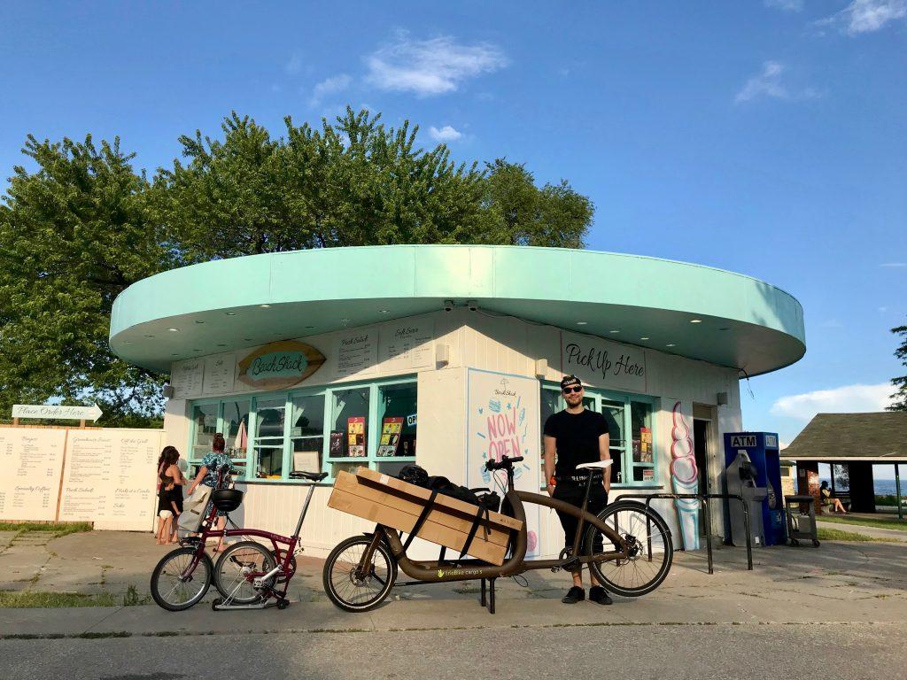 Snack stop at the Beach Shack. Toronto, Ontario