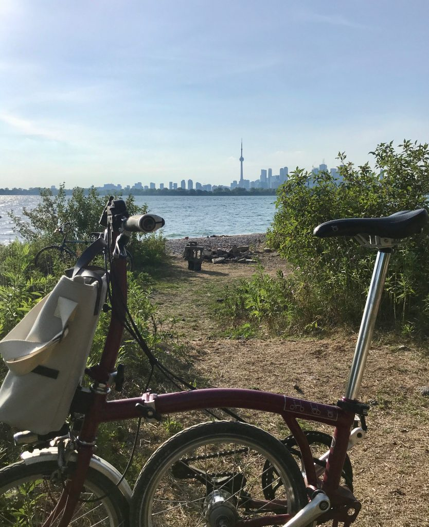 The Toronto skyline from the end of The Spit.