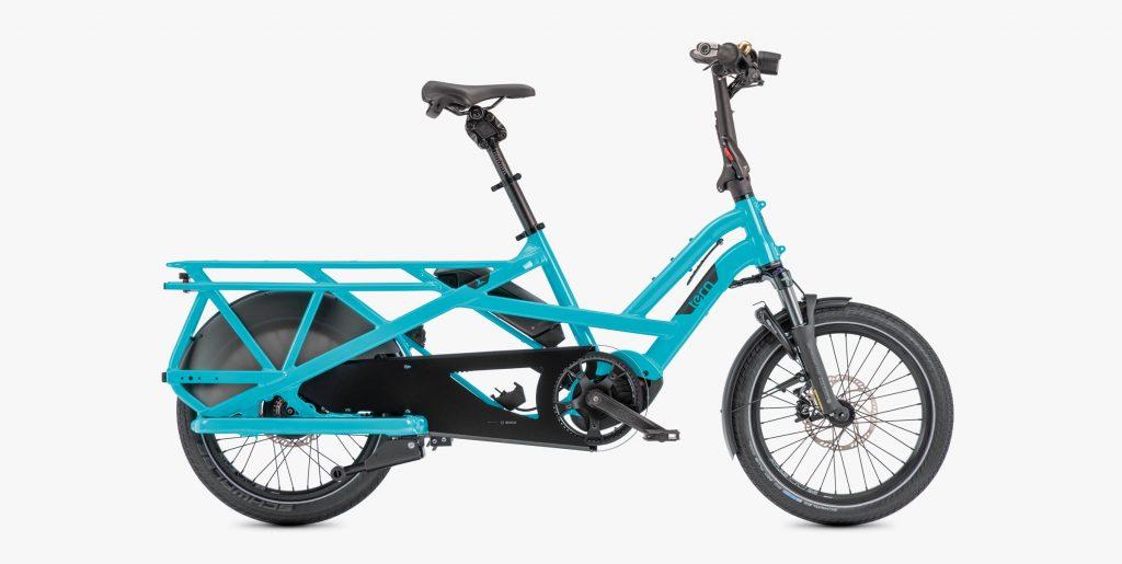 Tern GSD electric longtail cargo bike.